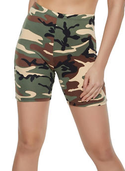 Camo Soft Knit Bike Shorts - 0060074015003