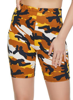 Camo Soft Knit Bike Shorts - 0060074015003