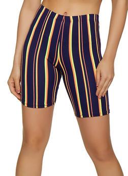 Striped Soft Knit Bike Shorts | 0060074015005 - 0060074015005
