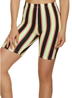 Striped Soft Knit Bike Shorts | 0060074015005 - 0060074015005