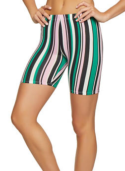 Multi Striped Womens Shorts