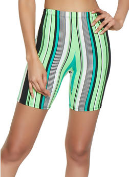 Soft Knit Striped Bike Shorts - 0060074015025
