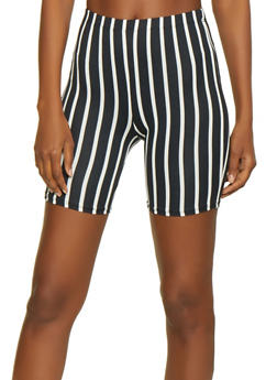 Multi Color Stripe Bike Shorts - 0060074015039