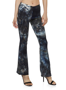 Tie Dye Soft Knit Flared Pants - 0061074014962