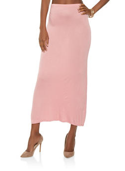 High Waisted Maxi Skirt - 0062054262554