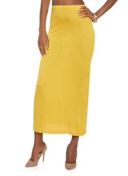 High Waisted Maxi Skirt - 0062054262554