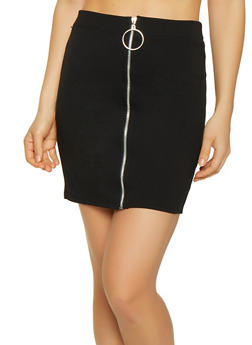Zip Front Mini Skirt - 0062062415126