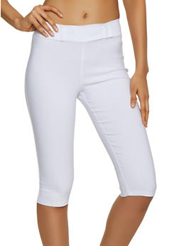 Tab Waist Stretch Capris - 0066020626465
