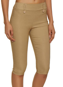 Solid Stretch Capris - 0066020626466