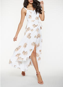 Floral Maxi Wrap Dress - 0090051063316