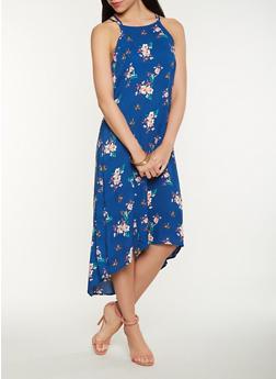 Printed High Low Tank Dress - 0090051063381