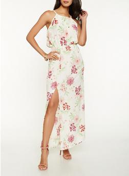 Sleeveless Printed Maxi Dress - 0090051063711