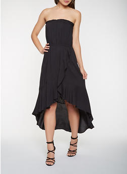 Strapless Asymmetrical Dress - 0090054260538