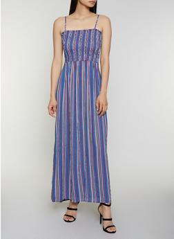 Smocked Maxi Cami Dress - 0090054260844