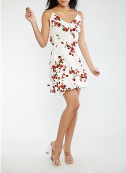 Floral Faux Wrap Dress - 0090054262485