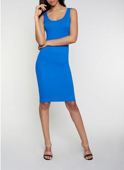 Ribbed Soft Knit Tank Dress - 0094015050730
