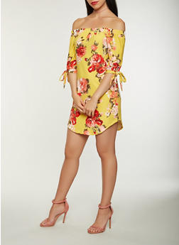 Floral Off the Shoulder Dress - 0094015051560