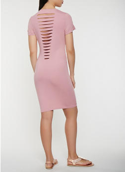 Slashed Back T Shirt Dress - 0094034280147