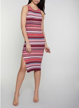 Striped Rib Knit Tank Dress | 0094034283589 - 0094034283589