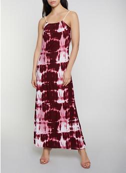 Tie Dye Keyhole Back Maxi Dress - 0094038341944