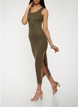 Caged Back Maxi Tank Dress - 0094038347230