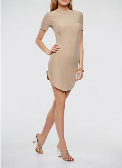 Soft Knit T Shirt Dress - 0094038348804