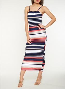 Striped Soft Knit Tank Maxi Dress - 0094038348850