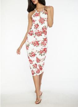 Floral Textured Knit Dress - 0094038348884