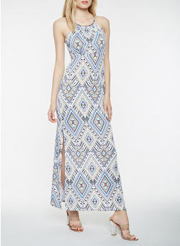 Sleeveless Printed Maxi Dress - 0094038348899