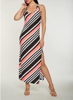 Striped Maxi Tank Dress - 0094038348910