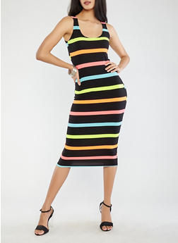 Striped Tank Dress - 0094038348935