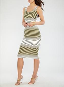 Striped Tank Dress - 0094038348936