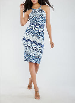 Soft Knit Printed Tank Dress - 0094038348947