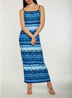 Tie Dye Tank Maxi Dress - 0094038348992