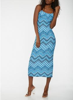Printed Maxi Tank Dress - 0094038348994