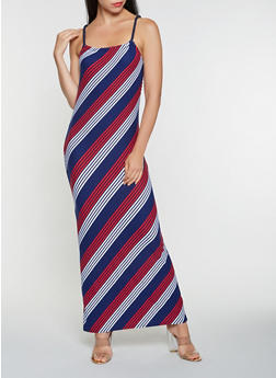 Striped Tank Maxi Dress - 0094038348995