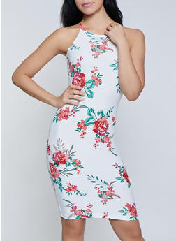 Floral High Neck Tank Dress | 0094038349038 - 0094038349038