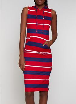 Soft Knit Hooded Tank Dress - 0094038349057