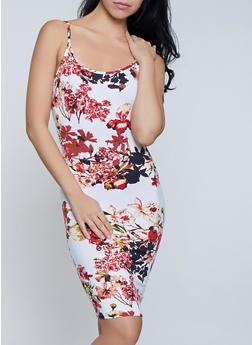 Floral Cami Tank Dress - 0094038349068