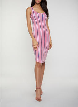 Striped Scoop Neck Tank Dress | 0094038349474 - 0094038349474
