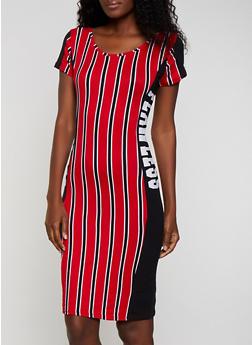 Flawless Printed T Shirt Dress - 0094038349608