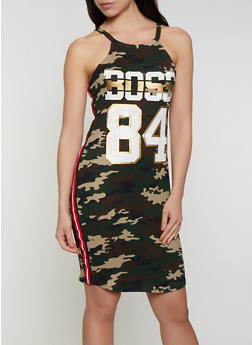 Printed Boss 84 Graphic Tank Dress - 0094038349613