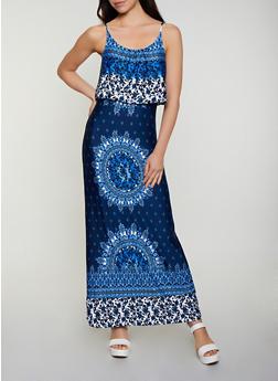 Printed Cami Maxi Dress - 0094038349666