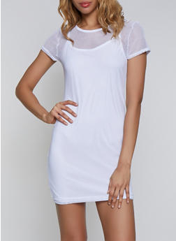Fishnet T Shirt Dress - 0094038349692