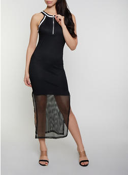 Womens Dresses Long Black Polyester