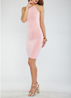 Soft Knit Solid Tank Dress - 0094038349803