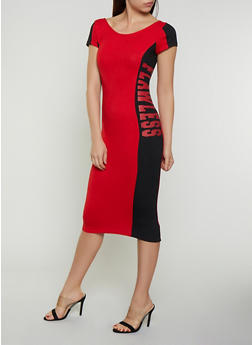 Flawless Color Block Soft Knit Dress - 0094038349856
