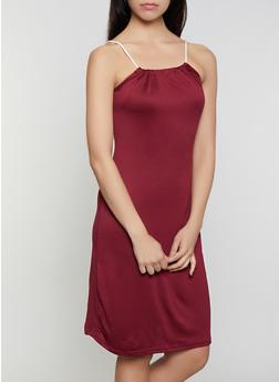 Rope Strap Solid Midi Dress - 0094038349879