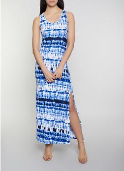 Tie Dye Racerback Tank Maxi Dress | 0094038349902 - 0094038349902