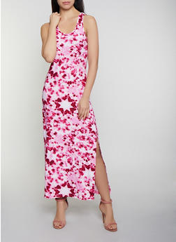 Tie Dye Racerback Tank Maxi Dress   0094038349913 - 0094038349913
